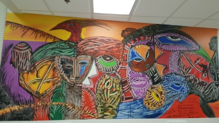 Cuban Artist Sal led youth on this Mural